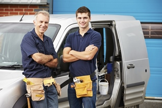 White van repair men